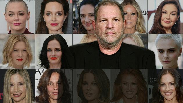 Harvey Weinstein: Therapie gegen Sexsucht beendet (Bild: APA/AFP/STAFF, AP, krone.at-Grafik)