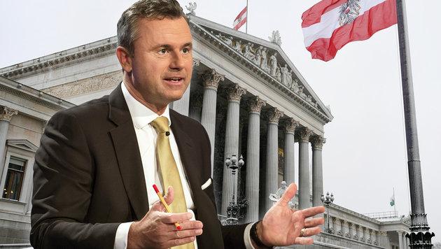 """Hofer: """"Derzeit nur ÖVP realistische Option"""" (Bild: APA/HELMUT FOHRINGER, APA/ORF/THOMAS JANTZEN , krone.at-Grafik)"""