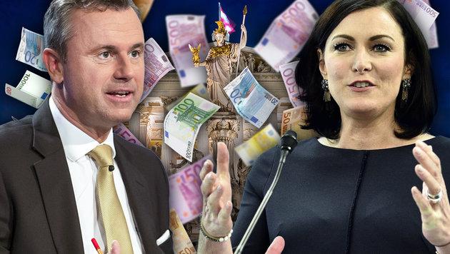 ÖVP und FPÖ lassen noch einmal nachrechnen (Bild: ORF/THOMAS JANTZEN, APA, thinkstockphotos.de, krone.at-Grafik)