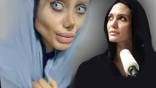 "Angelina-Jolie-Double: ""Alles nur ein Fake"" (Bild: AP, instagram.com, krone.at-Grafik)"