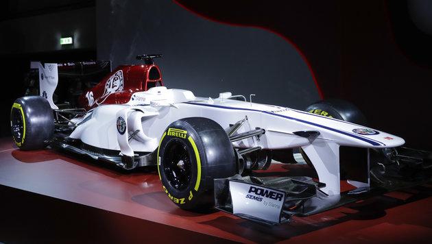 Mit diesem Wagen will Alfa Romeo die F1 aufmischen (Bild: AP)