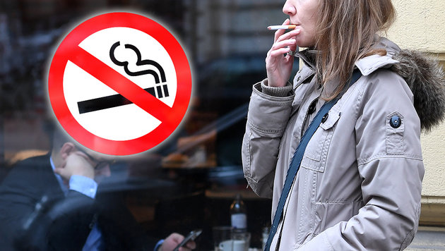 Jetzt doch kein komplettes Rauchverbot ab Mai 2018 (Bild: APA/Helmut Fohringer, stock.adobe.com, krone.at-Grafik)