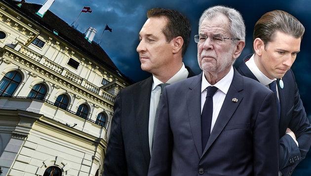 Aufschrei über FPÖ in der Regierung blieb aus (Bild: APA, krone.at-Grafik)