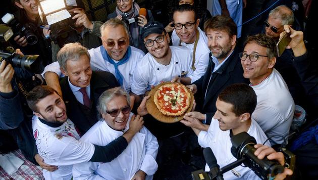 Im Capodimonte Museum in Neapel jubeln die Pizza-Experten. (Bild: AP)