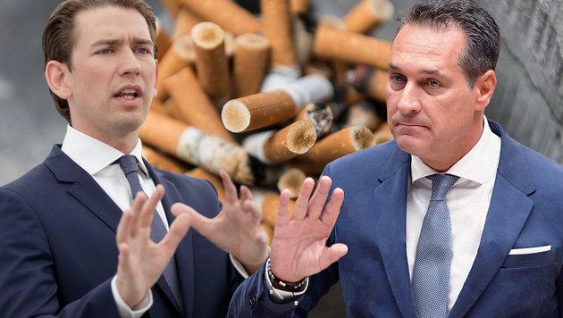 Jetzt doch kein komplettes Rauchverbot ab Mai 2018 (Bild: APA, dpa, krone.at-Grafik)