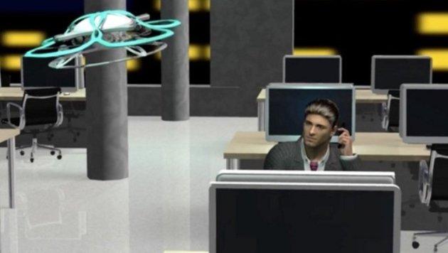 Überstunden: Drohne soll Japaner aus Büro jagen (Bild: Taisei)