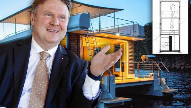 """Wohnbaustadtrat Michael Ludwig initiierte den großen Ideenwettbewerb gemeinsam mit der """"Krone"""". (Bild: Martin A. Jöchl, Wohnressort Wien, krone.at-Grafik)"""
