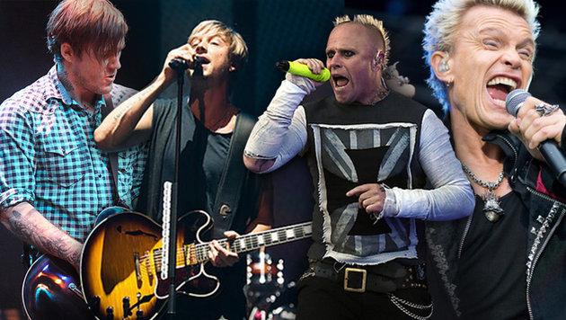 Nova Rock: The Prodigy, Billy Idol und Co. dabei (Bild: EPA, krone.at-Grafik)