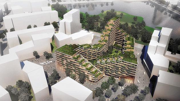 Eine Gartenstadt für Aspern: das Projekt von Helen & Hard (Bild: Helen & Hard)
