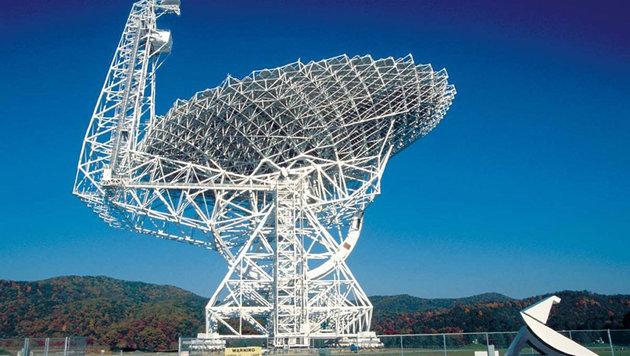 Das Green Bank Telescope in West Virginia (Bild: NRAO)