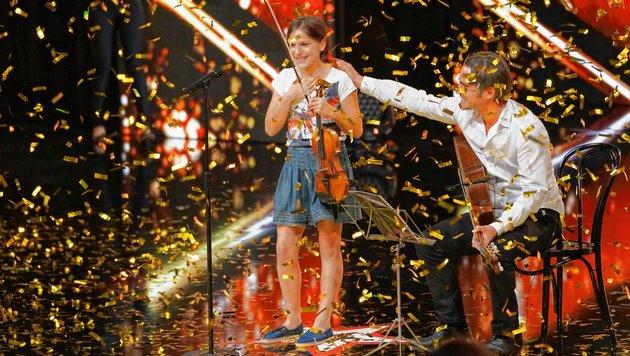 Tinnefeld begeisterte mit ihrem Geigenspiel. (Bild: RTL)