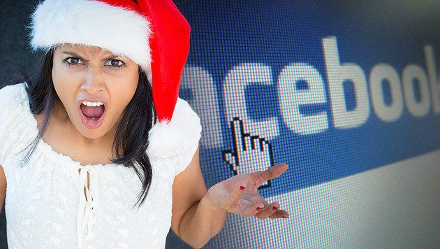 Jeder Vierte ist genervt von Weihnachts-Postings (Bild: dpa/Stephan Jansen, stock.adobe.com, krone.at-Grafik)