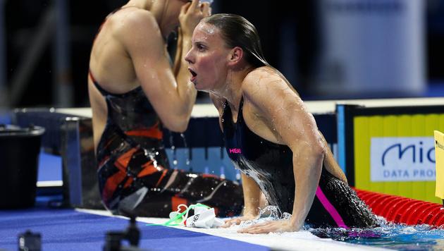 Birgit Koschischek nach ihrem letzten internationalen Wettbewerb (Bild: GEPA)