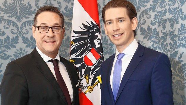"""Kurz und Strache: """"Wir rechnen mit Widerstand"""" (Bild: Tomschi Peter)"""