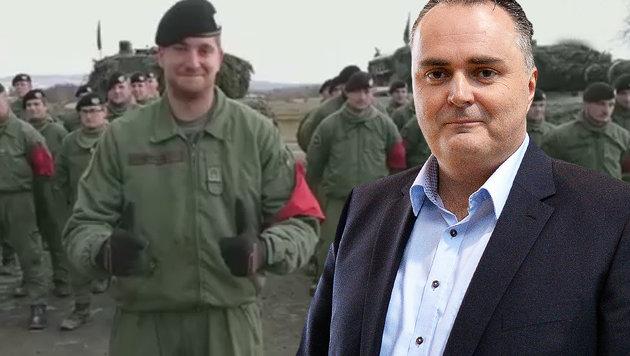 Hier bedankt sich das Heer bei Minister Doskozil (Bild: Bundesheer, APA/BARBARA GINDL, krone.at-Grafik)