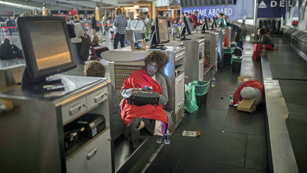 Atlanta: Stromausfall lähmte Flughafen stundenlang (Bild: ASSOCIATED PRESS)