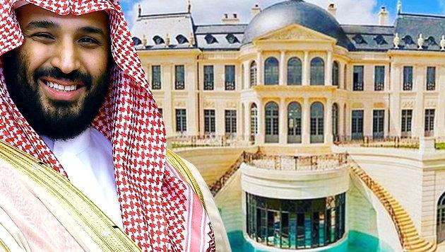 Saudi-Prinz kaufte sich das teuerste Haus der Welt (Bild: AP, instagram.com, krone.at-Grafik)