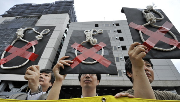 Die Todesstrafe genießt breiten Rückhalt in Japan. Demos für die Abschaffung sind selten. (Bild: AFP)