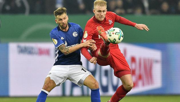 Burgstaller erreicht mit Schalke das Viertelfinale (Bild: Associated Press)