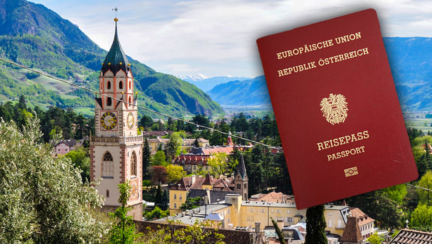 Italiens Rechte schäumen über neue Südtirol-Regeln (Bild: Karl Schöndorfer, wikipedia.org, krone.at-Grafik)