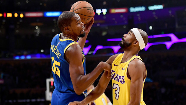 Warriors-Overtime-Sieg bei den Lakers dank Durant (Bild: APA/AFP/GETTY IMAGES/Harry How)