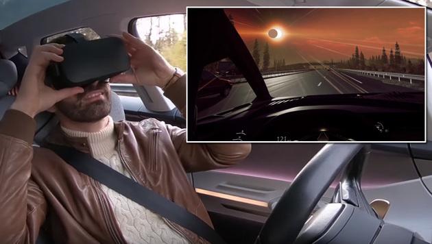 Dank VR: So abgefahren wird autonomes Fahren (Bild: YouTube.com, krone.at-Grafik)