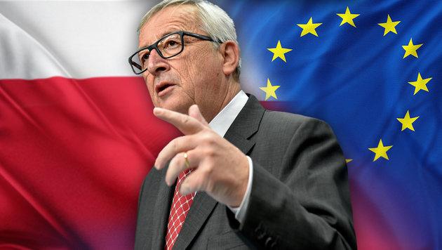 Kommissionspräsident Jean-Claude Juncker (Bild: APA/AFP/JOHN THYS, stock.adobe.com, krone.at-Grafik)
