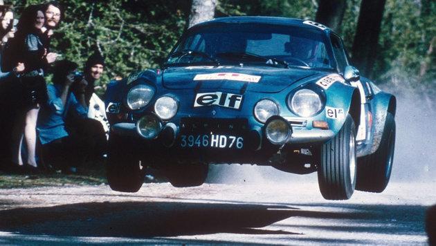 Die Alpine A 110 bei der Rallye Portugal 1973 (Bild: Renault)