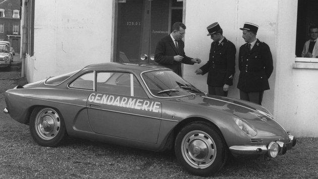 Die A 110 als Polizeifahrzeug (Bild: Renault)