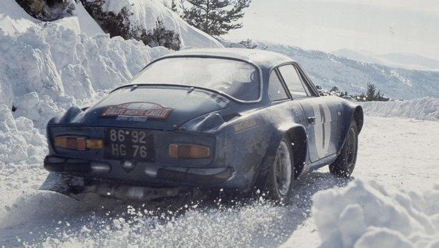 Die Alpine A 110 bei der Rallye Monte Carlo 1973 (Bild: Renault)