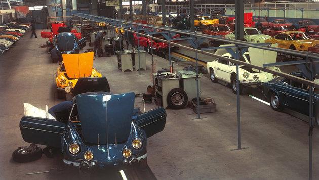 Die Alpine-Produktion im Werk in Dieppe (Bild: Renault)