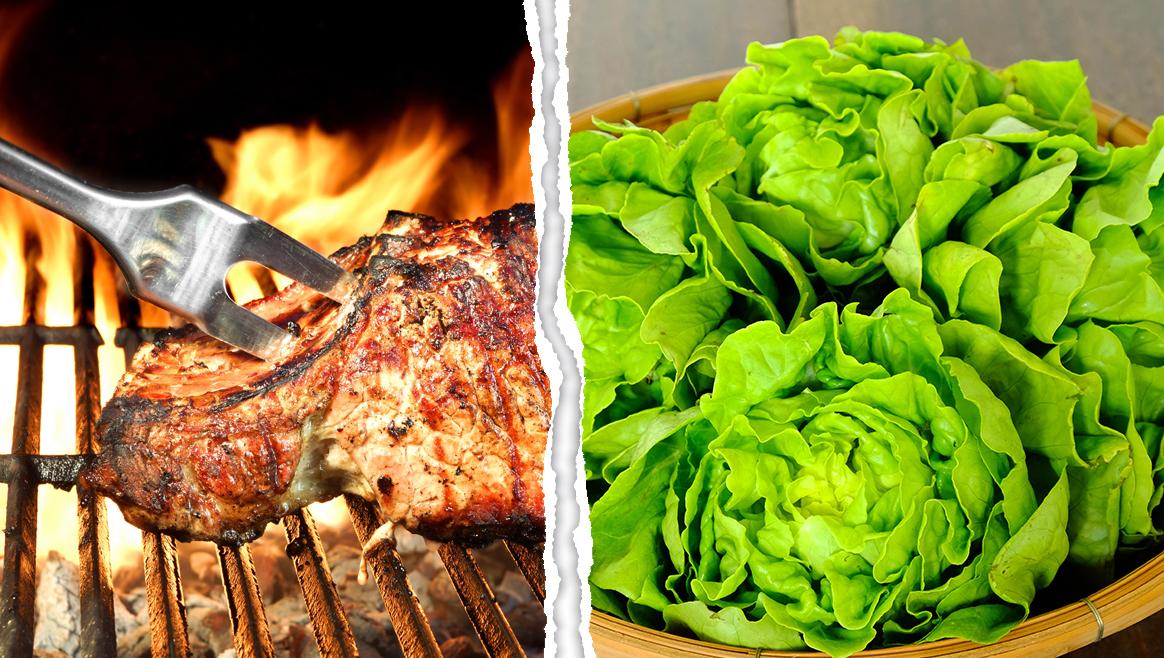 Streit flammt neu auf: Fleischesser vs. Vegetarier  (Bild: thinkstockphotos.de)