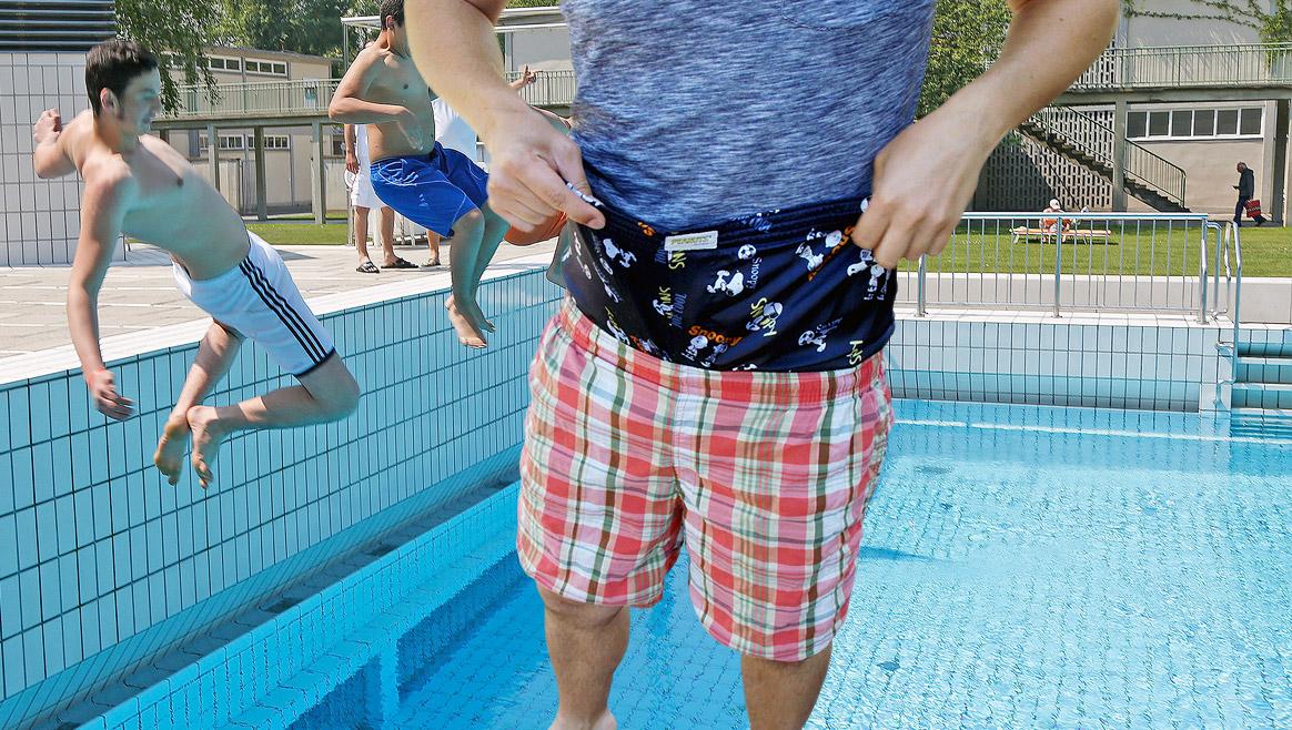 5 Gründe gegen Baden mit Unterhose  (Bild: Martin A. Jöchl/ krone.tv)