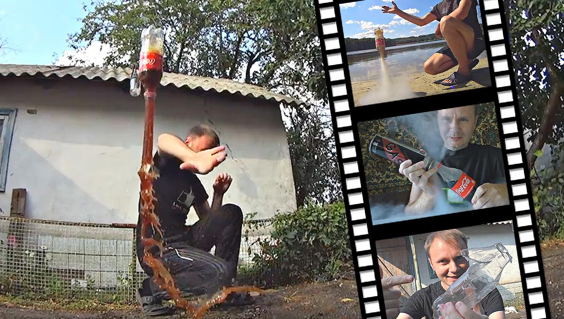 Total verrückt: Die Cola-Gas-Rakete  (Bild: YouTube.com/kreosan)