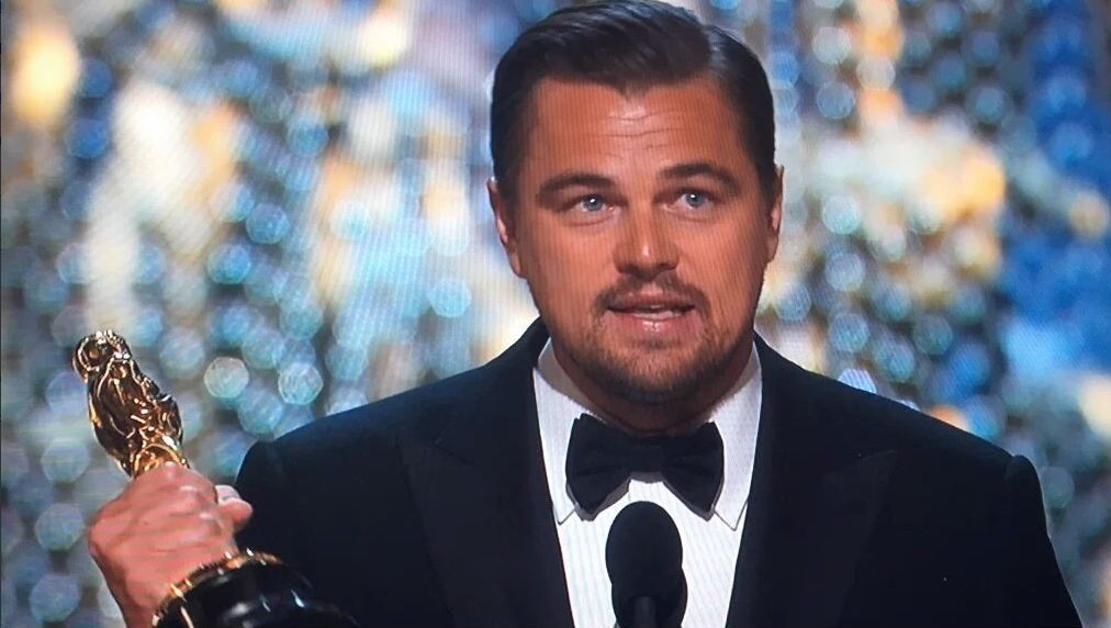 Leo stellt  bei Oscars neuen Twitter-Rekord auf  (Bild: Twitter)