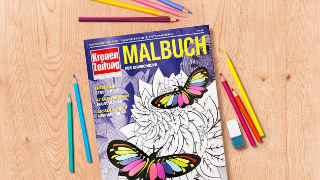 das erste krone malbuch f r erwachsene malbuch magazin krone magazine. Black Bedroom Furniture Sets. Home Design Ideas