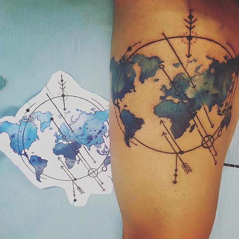 Die sch�nsten Tattoos f�r Reise-Junkies (Bild: instagram.com/dariusz_korzeniewski)