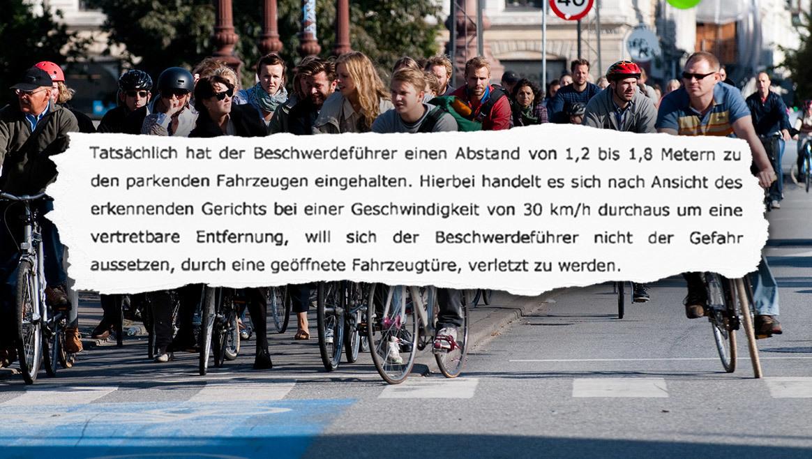 Urteil: Radler dürfen in der Straßenmitte fahren  (Bild: Wikipedia, www.radlobby.at)