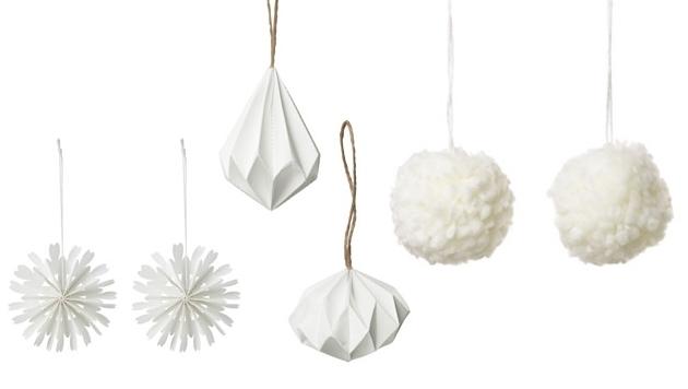 Deko tipps f r ein wei es weihnachten schnee als vorbild for Ikea christbaumkugeln