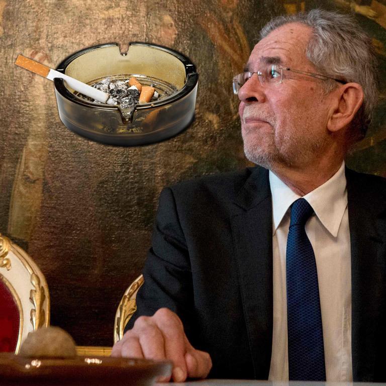 Van der Bellen darf auch in der Hofburg rauchen (Bild: APA/AFP, Thinkstockphotos.de)