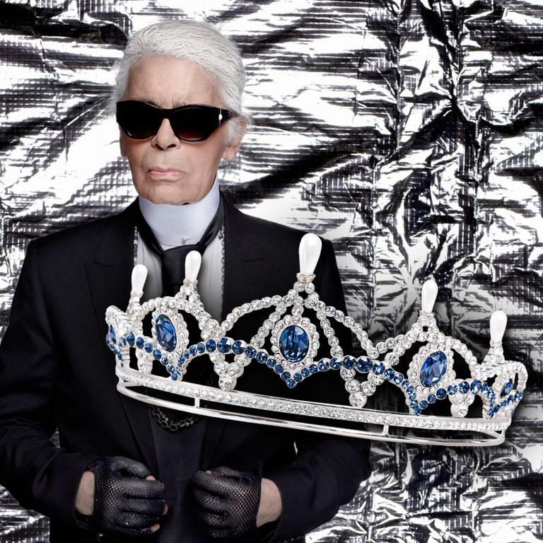 Star-Designer Karl Lagerfeld designt Tiara (Bild: Karl Lagerfeld/Thomas Schrott Swarovski)