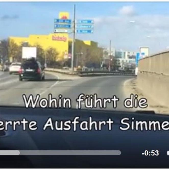 Wohin führt die gesperrte Ausfahrt Simmering? (Bild: Facebook)