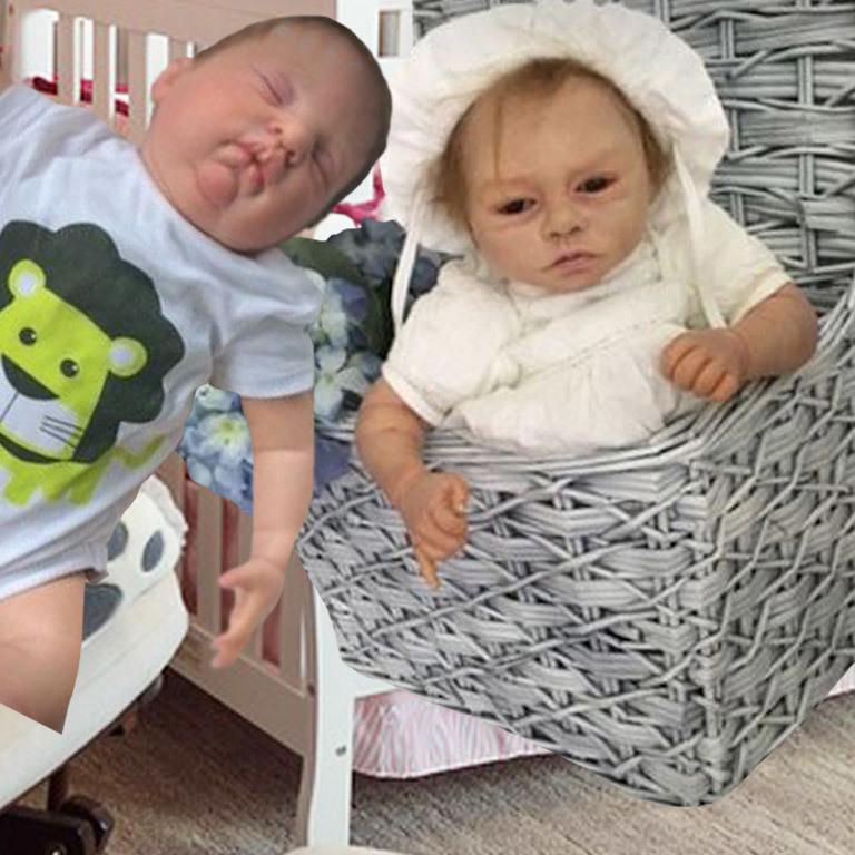 Lebensechte Baby-Puppen als Verkaufshit im Netz (Bild: Shpock)