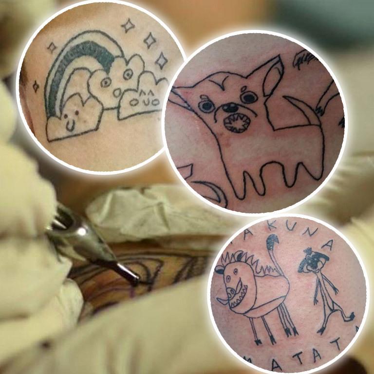 Anti-Talent: Künstlerin entzückt mit Trash-Tattoos (Bild: instagram.com/malfeitona)