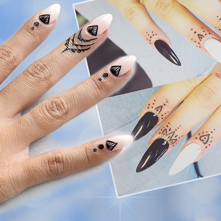 Neuer Beauty-Trend: Nagelhaut-Tattoos (Bild: instagram.com)