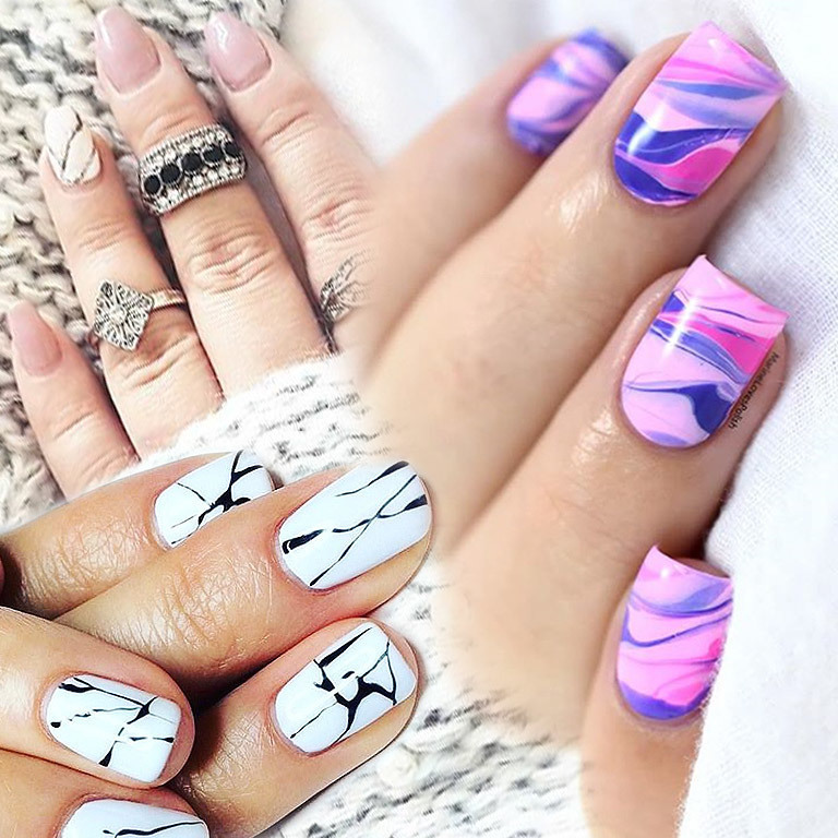 Neuer Style-Trend im Web: Marble Nails (Bild: instagram.com)