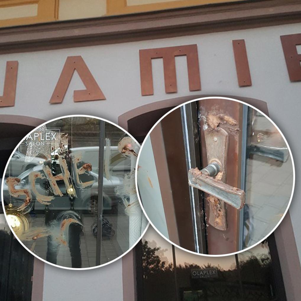 """Wiener Friseursalon mit Fäkalien beschmiert (Bild: Jamie""""O)"""