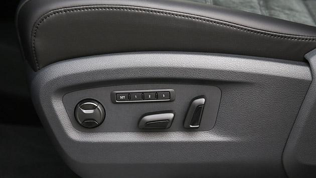 Elektrische Sitzverstellung ist optional. (Bild: Volkswagen)