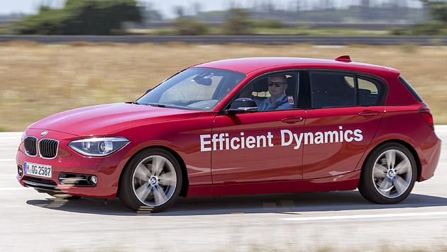 Mit diesem 1er testet BMW derzeit die Wasser-Direkteinspritzung. (Bild: BMW)