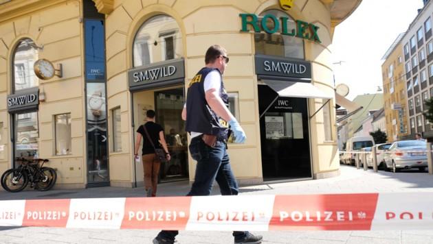 Mitten in der Linzer Innenstadt auf der Landstraße schlugen die brutalen Räuber am Donnerstag zu. (Bild: Horst Einöder)